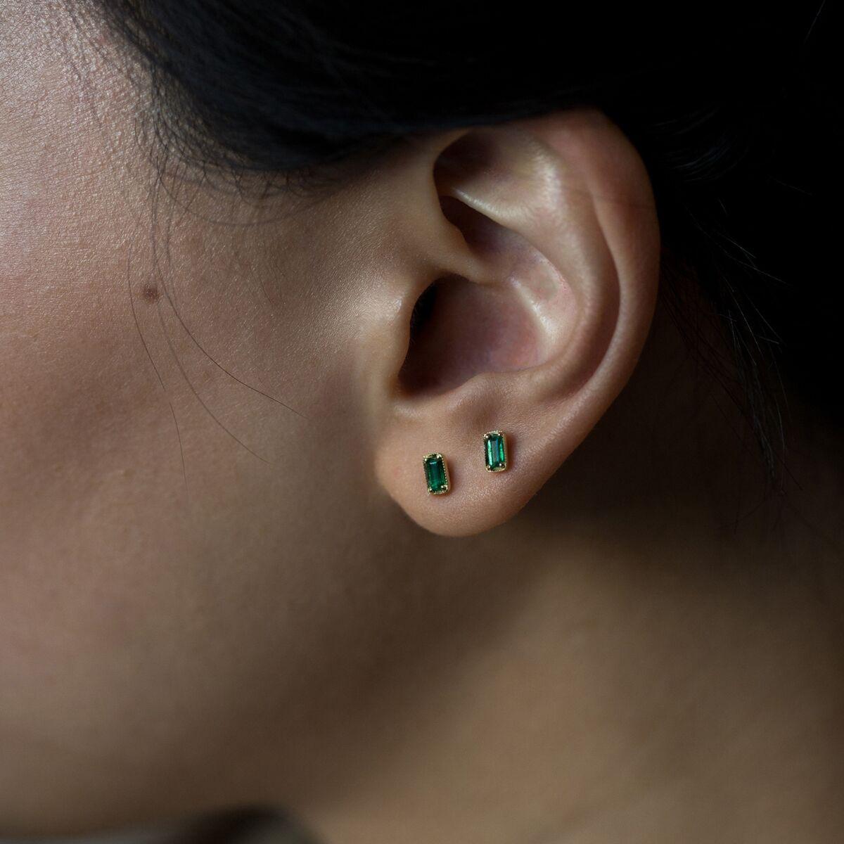 Leone Emerald Earrings image
