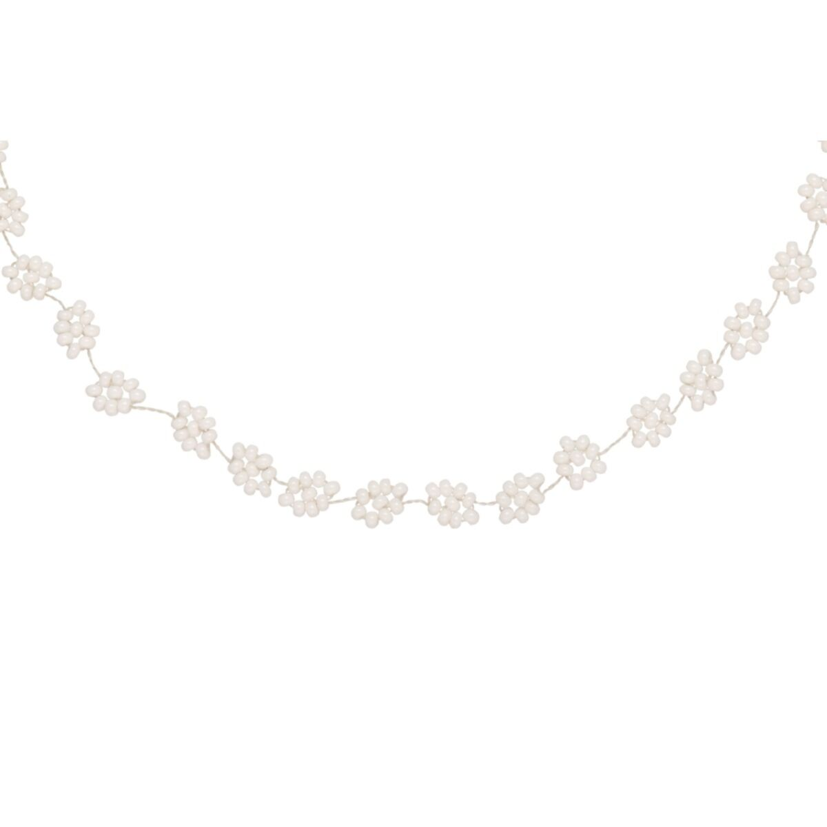 Daisy Chain Necklace, White image
