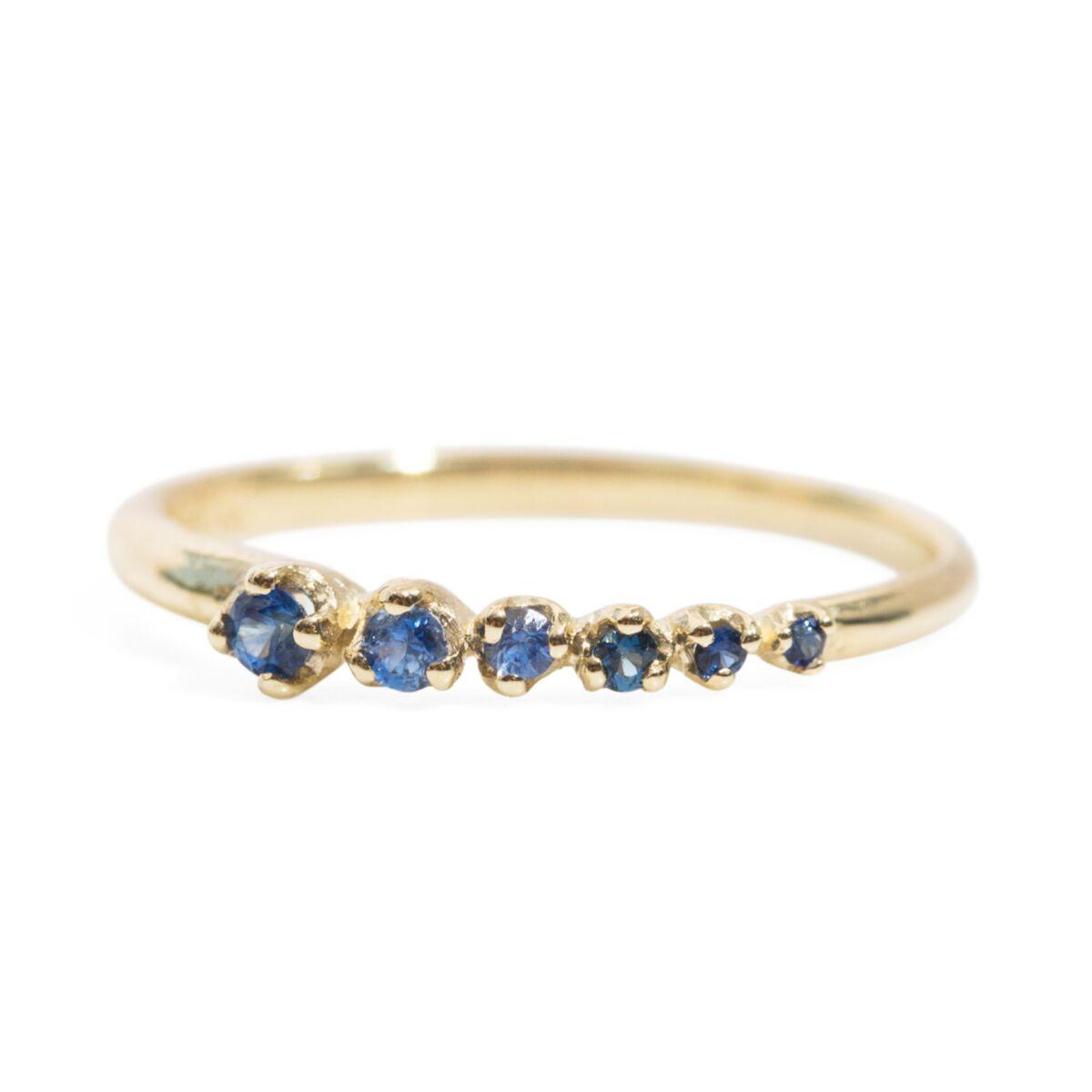 Sapphire Shooting Star Ring