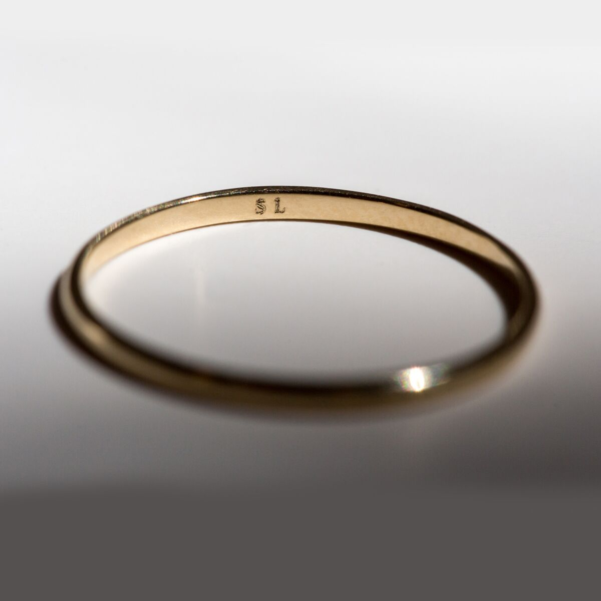 Catbird Classic Wedding Bands, Half Round Band, 1mm image