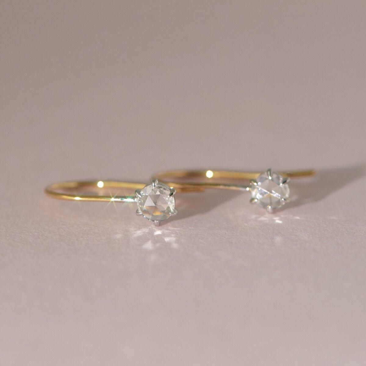 Equinox Rose Cut Diamond Earrings image