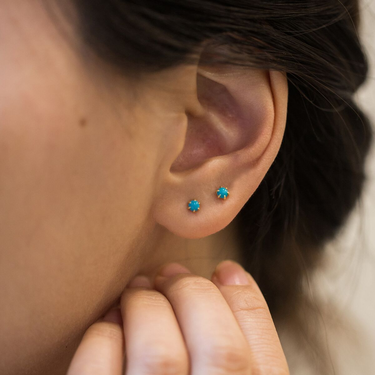 Kyndall Turquoise Studs image