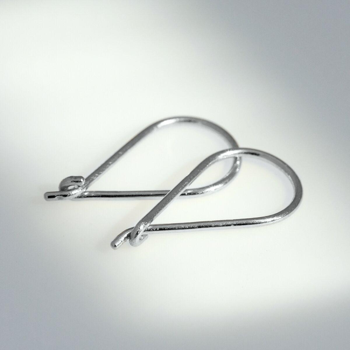 Teardrop Hoop, Silver (SINGLE) image