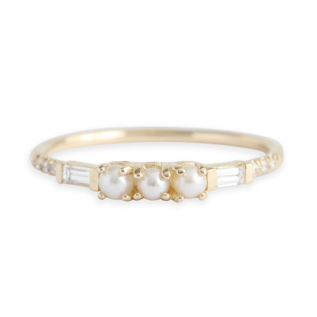 Pearl Baguette Equilibrium Ring image