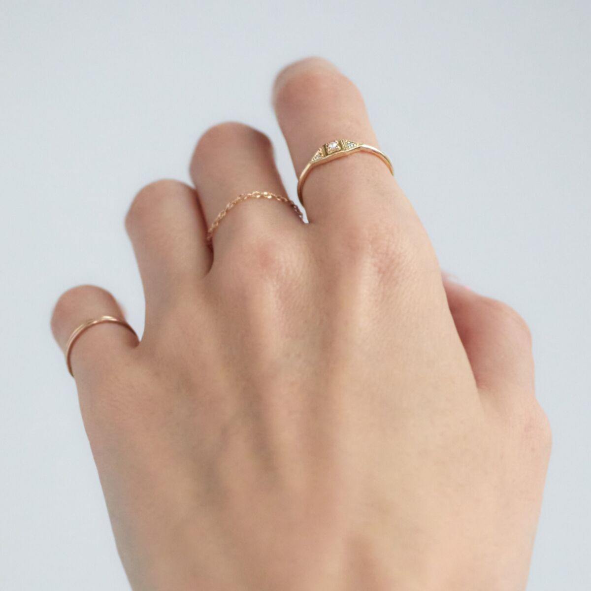 Baby Deco Ring, Pearl image