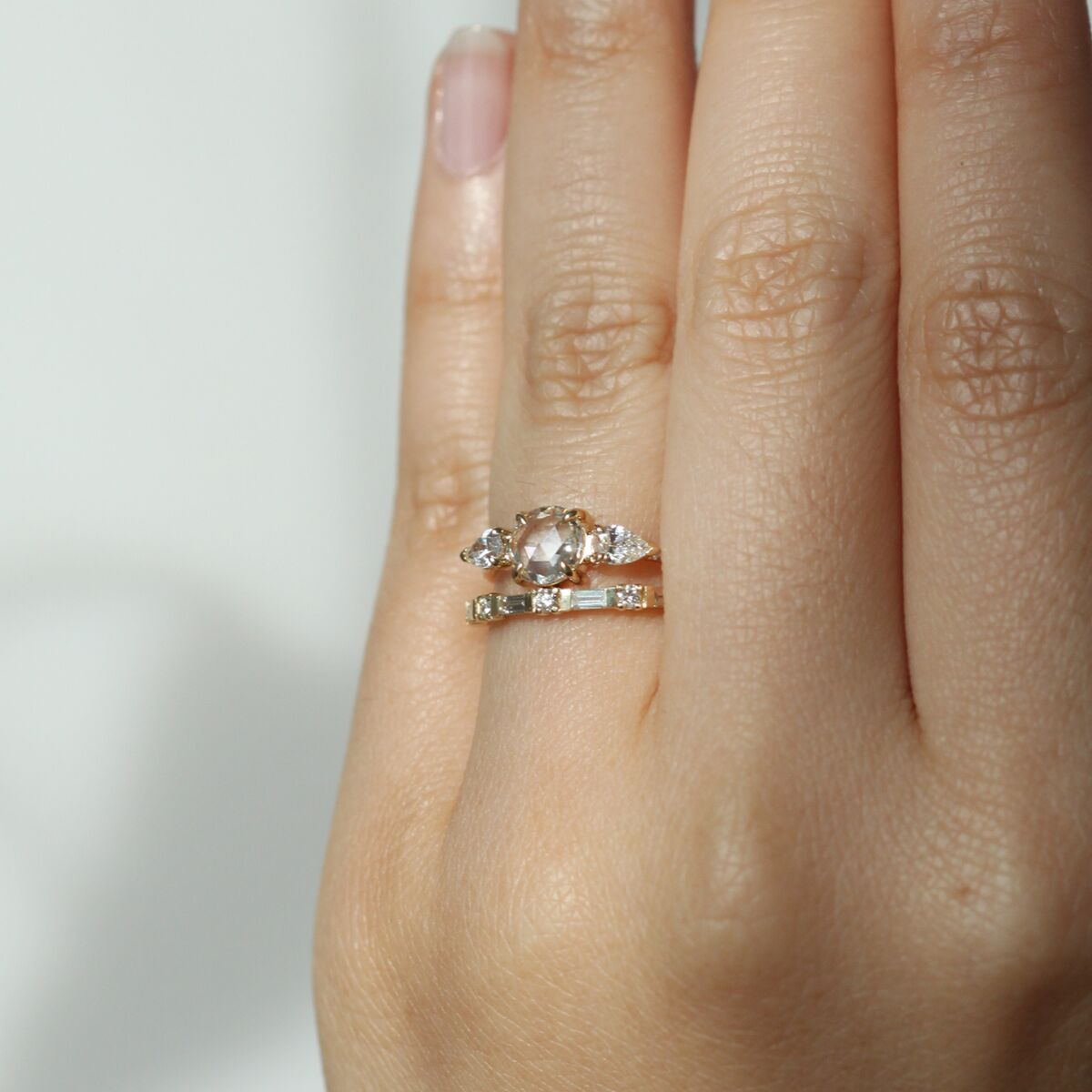Round & Baguette Eternity Band image