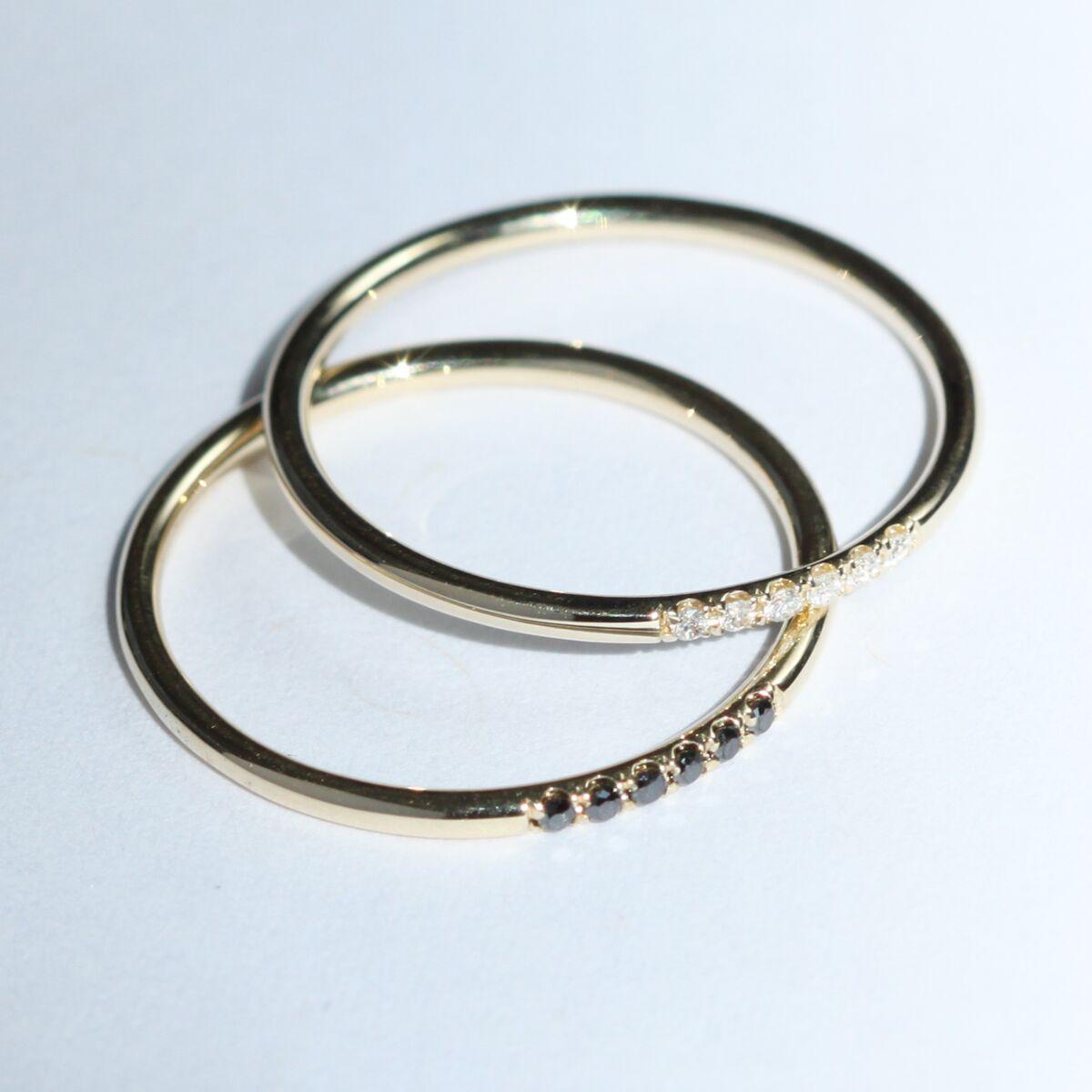 Semi Pave Ring, Black Diamond image