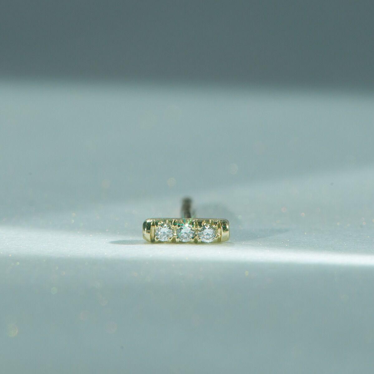 Equilibrium Stud, White Diamond (single) image