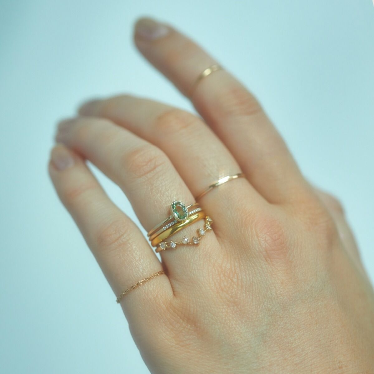 Caravaggio Ring, Green Sapphire image