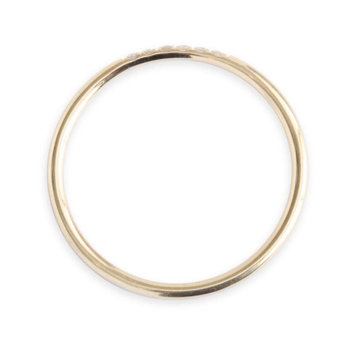 Semi Pave Ring, White Diamond image