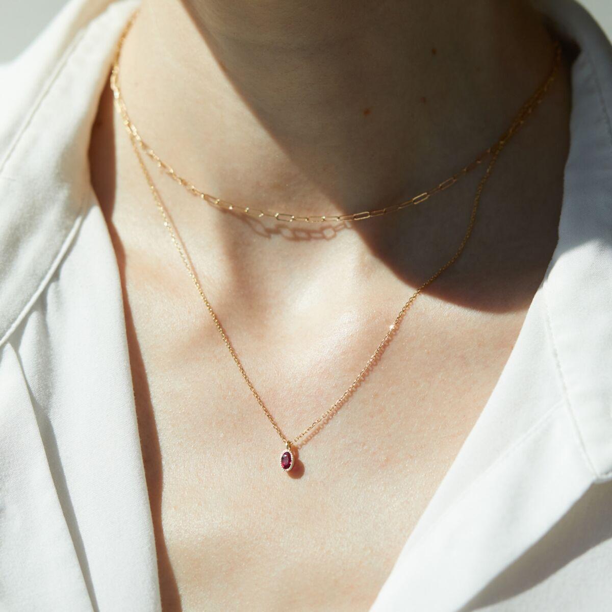 Caravaggio Necklace, Ruby image