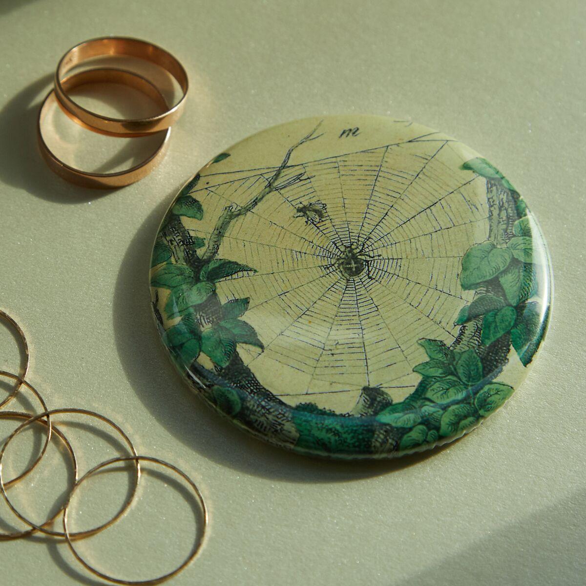 Leafy Web Pocket Mirror image