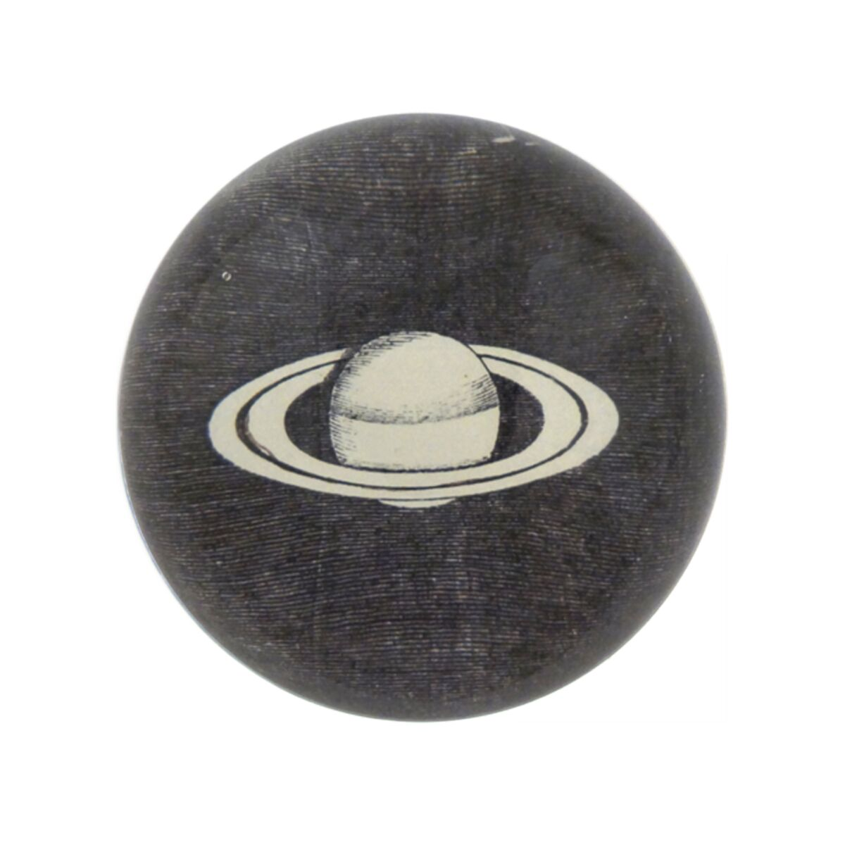 Black & White Saturn Dome Paperweight image