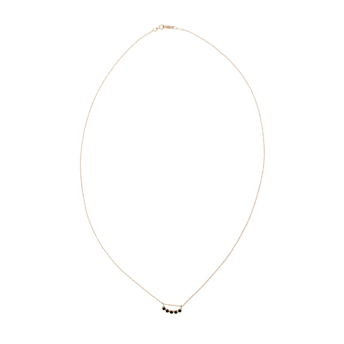 Majesty Curve Necklace, Black Diamond image