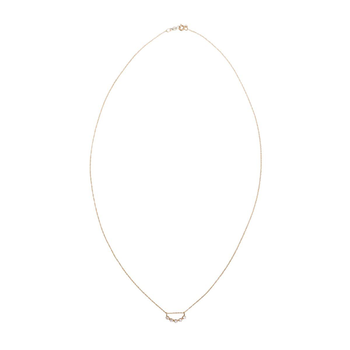 Majesty Curve Necklace, White Diamond image