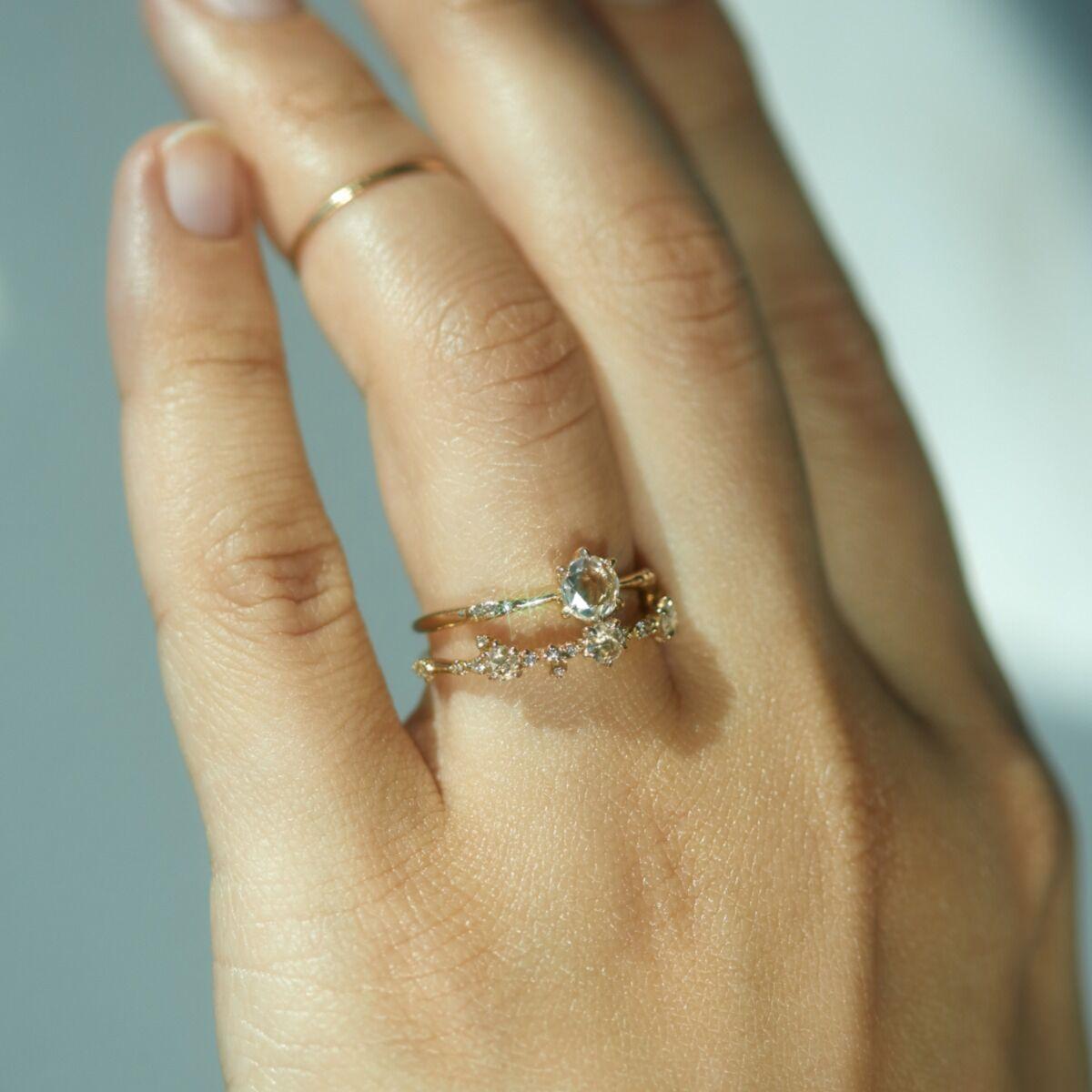 Ilona Ring, Rose Cut Diamond image