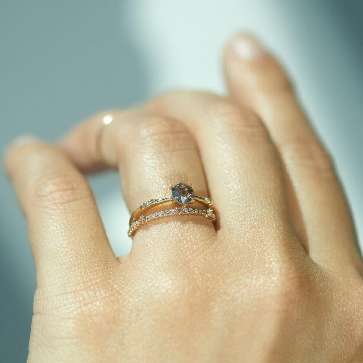 Ilona Ring, Salt & Pepper Diamond image