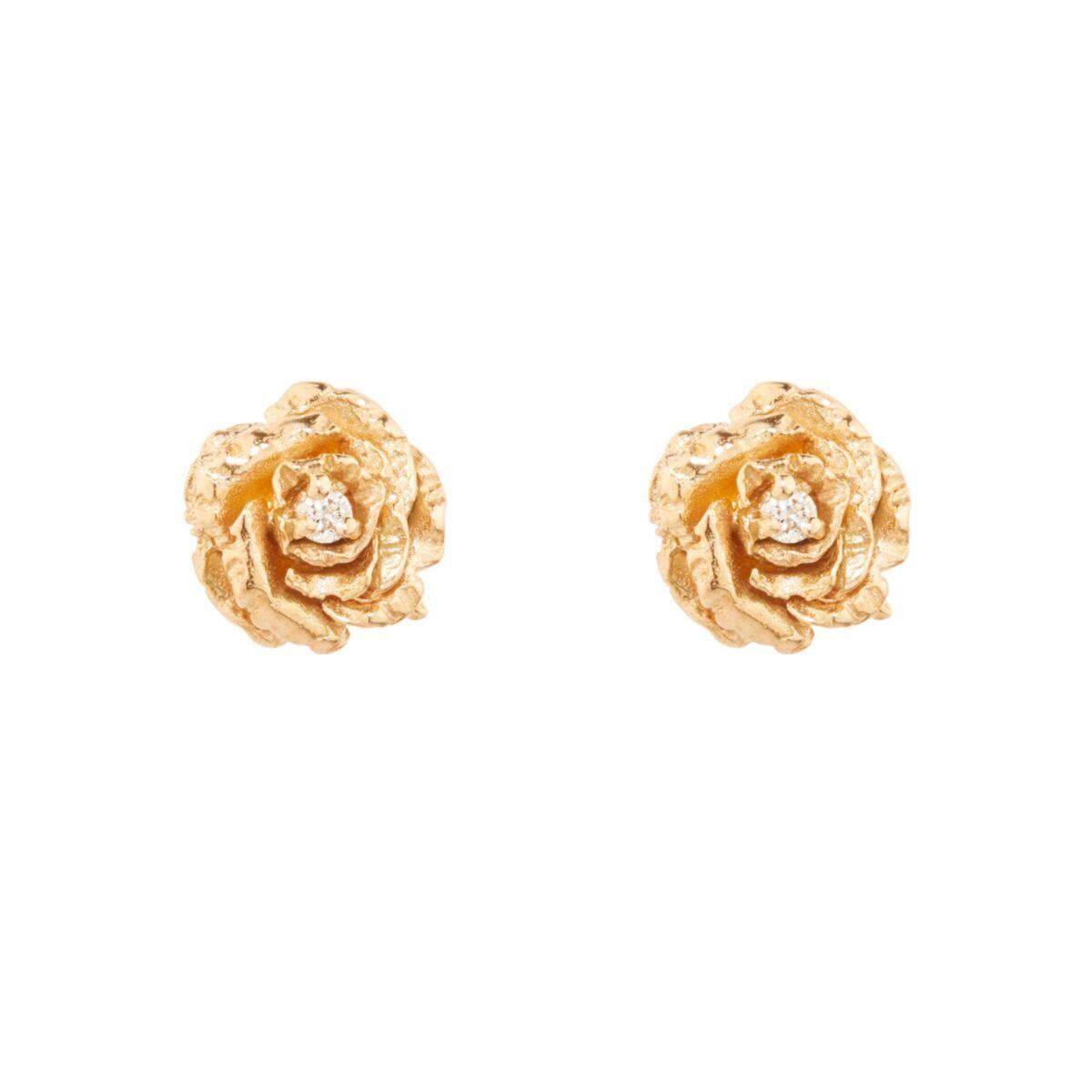 Dewy Diamond Rose Stud (single) image