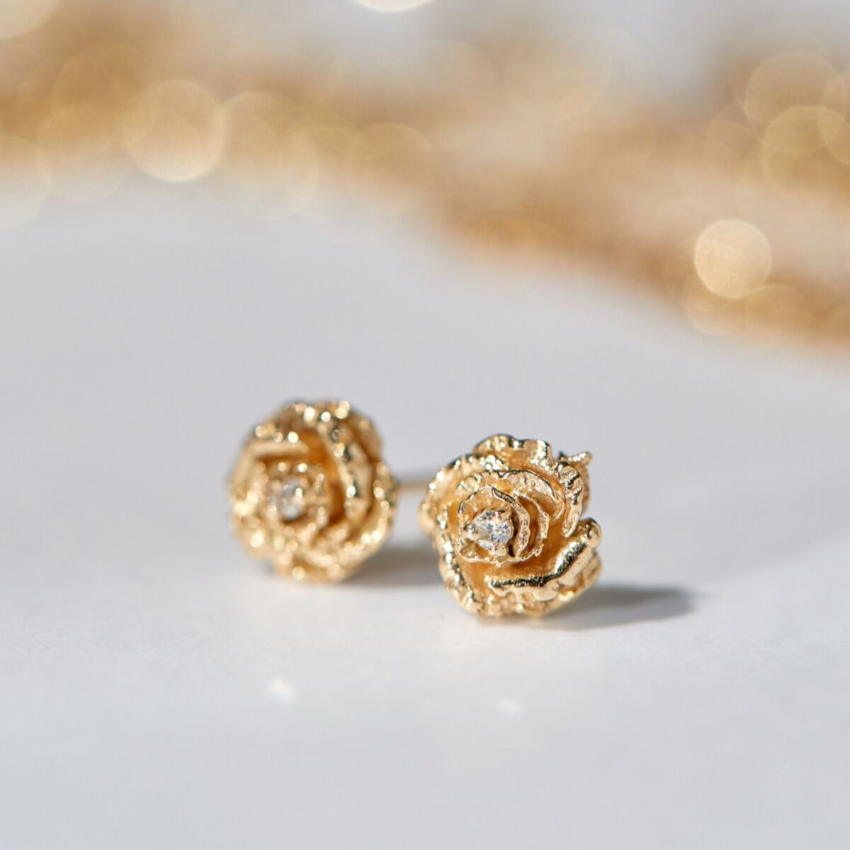 Dewy Diamond Rose Stud (single) image