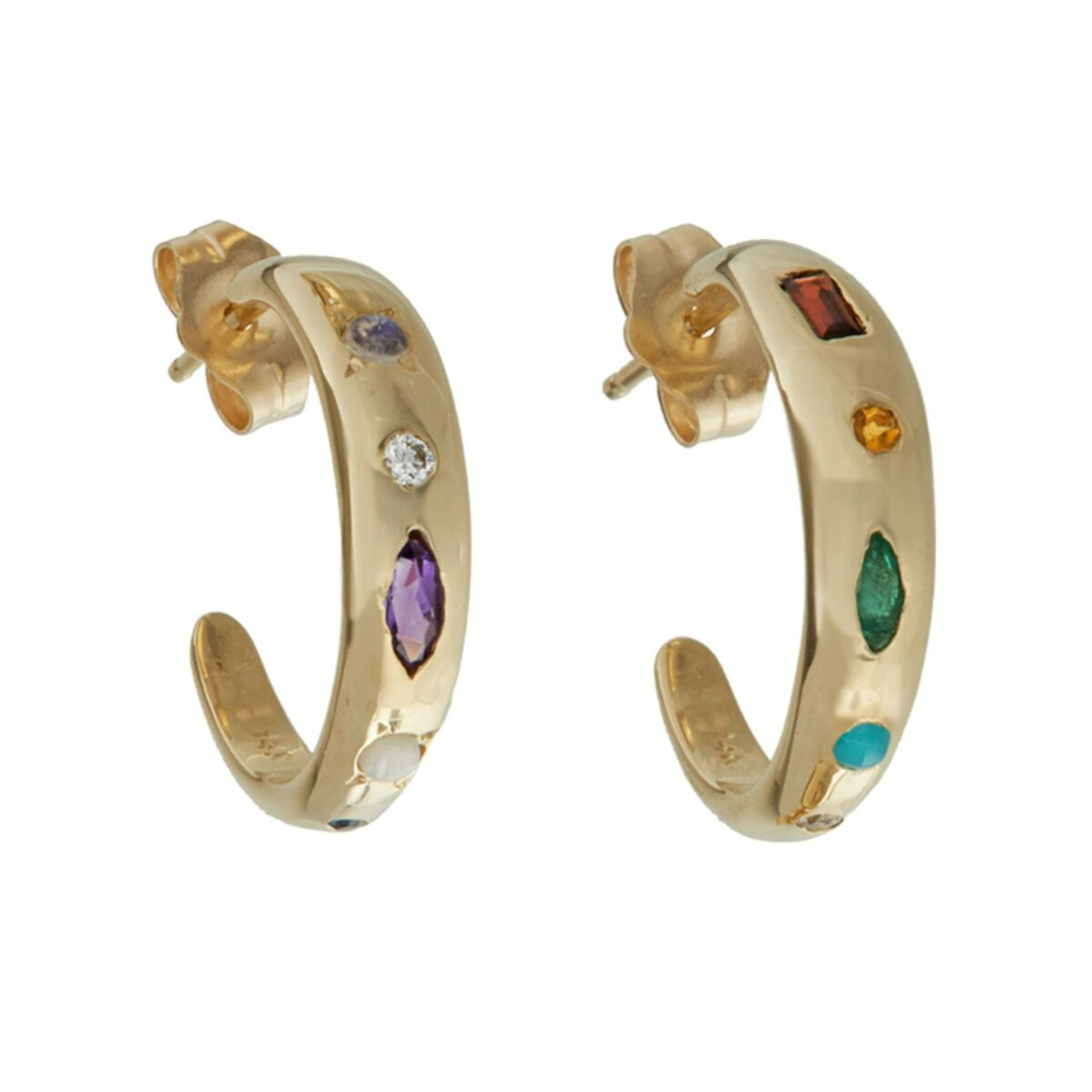 Baby Grand Mineral Hoops (Pair) image