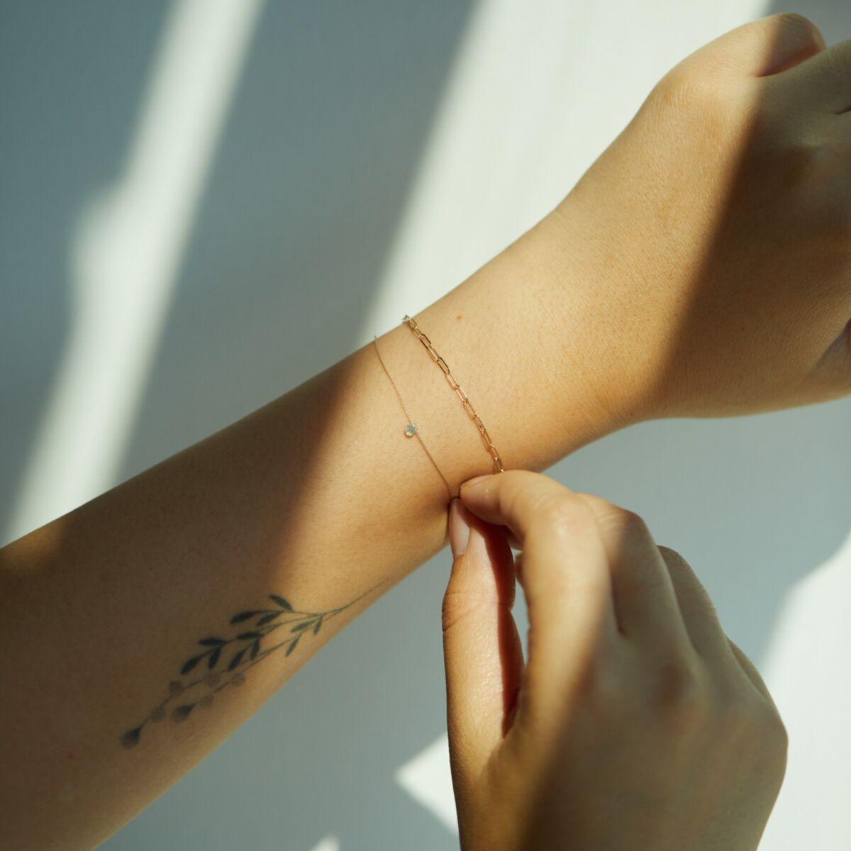Aquamarine Wishing Bracelet image
