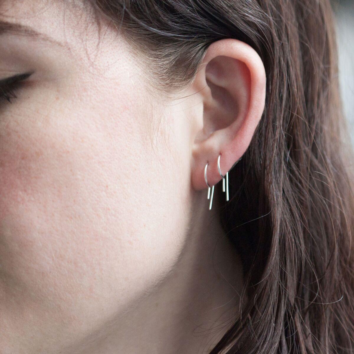 Loopdie Earring Silver (SINGLE) image