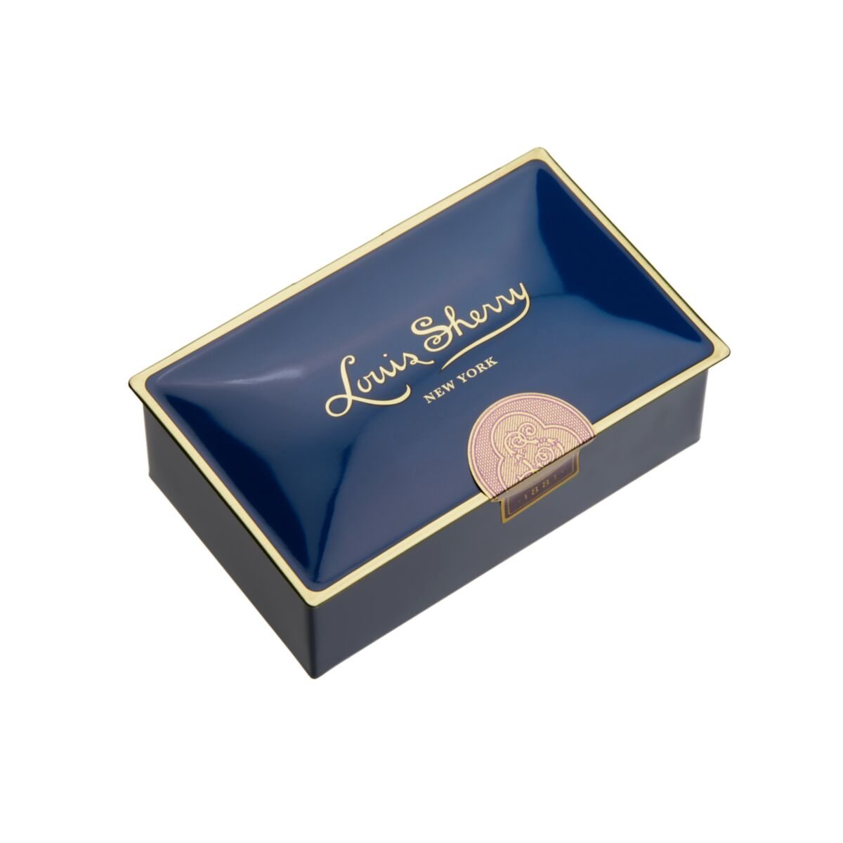 Jewel Box Chocolate Tin, Navy image