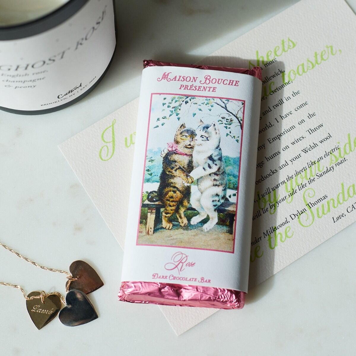 Cats in Love Chocolate Bar image