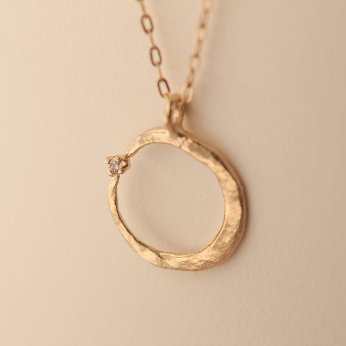Crescent Hugs a Diamond Necklace image