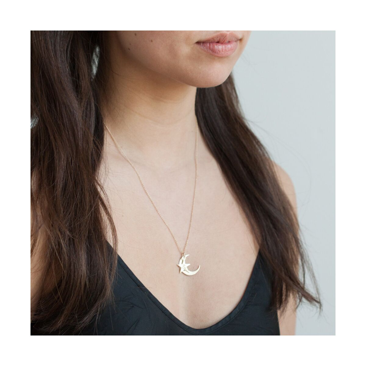 You are My Moon and Stars Stackable Necklace image