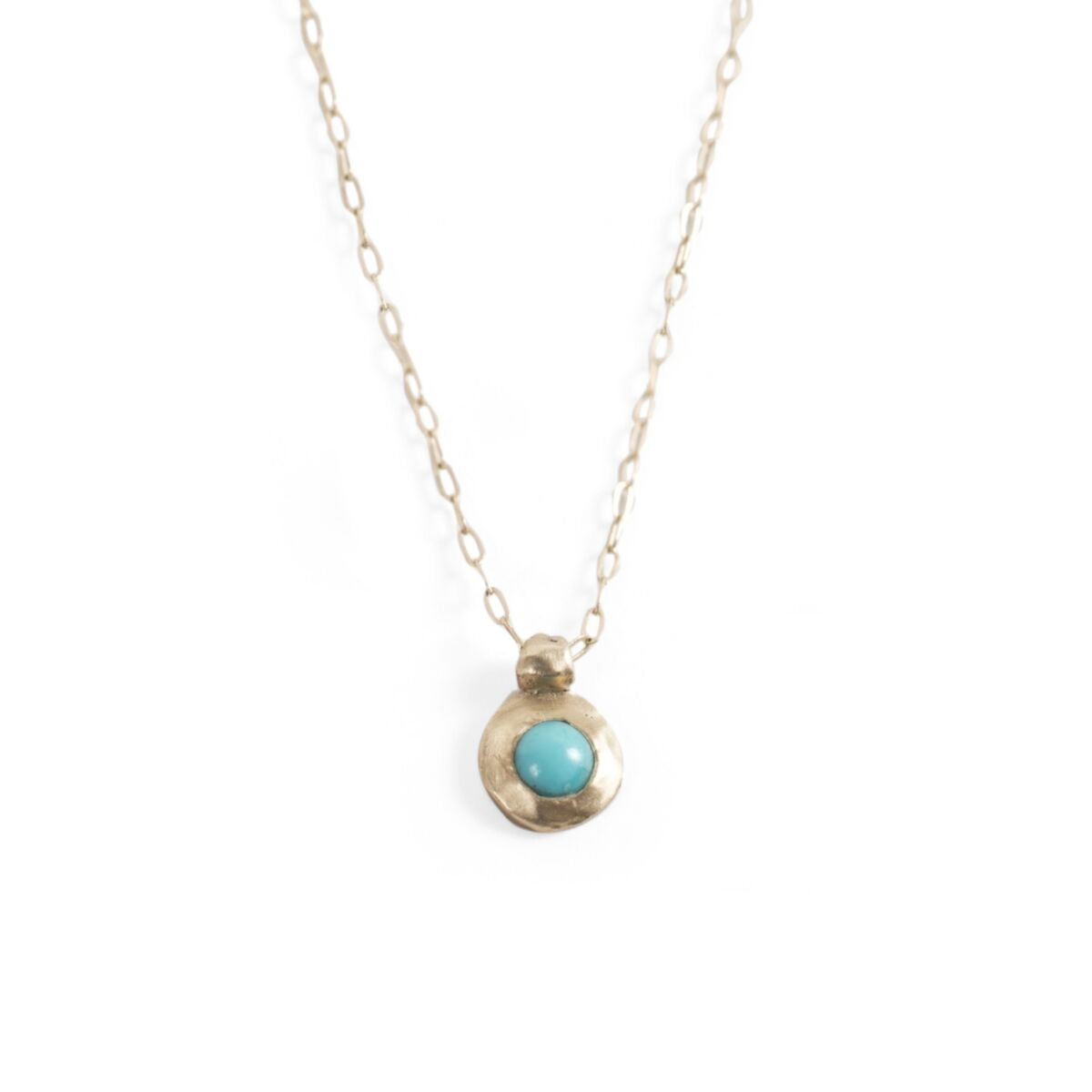 Tiny Turquoise Necklace image