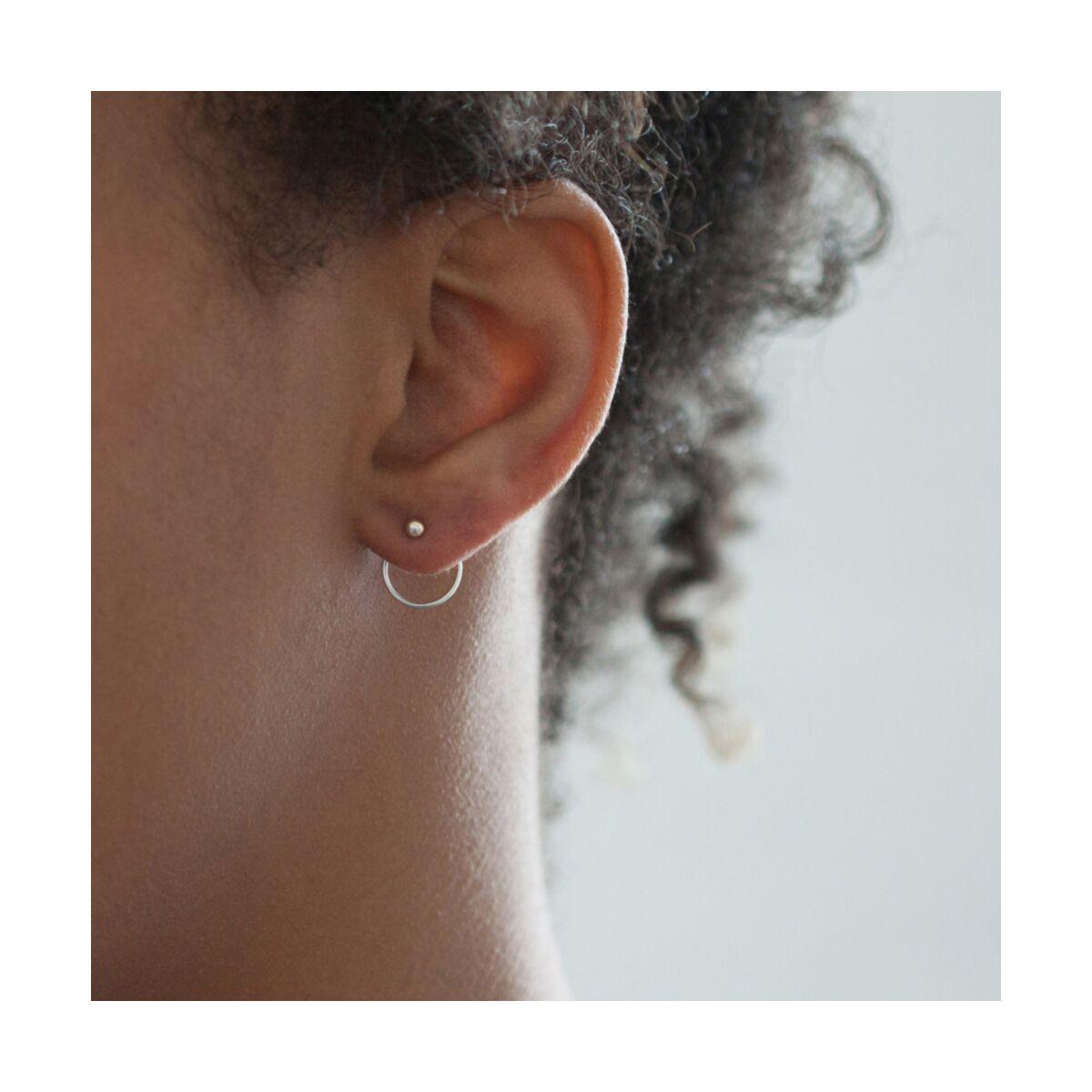 Ear Nut Earring, Silver (SINGLE) image