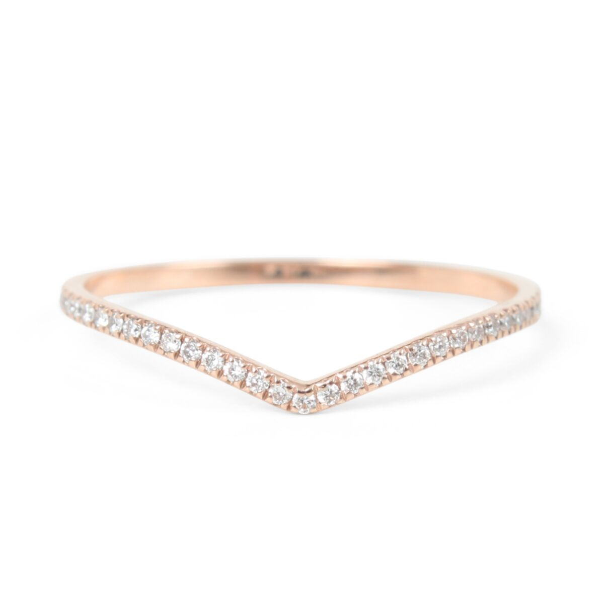 Fairy Light Eternity Band, curved image