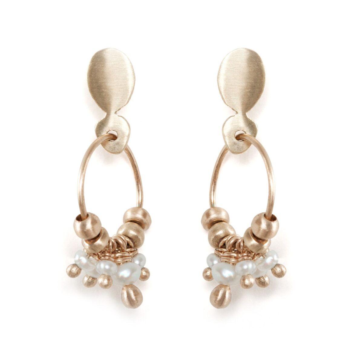 Pearl Cluster Earrings image