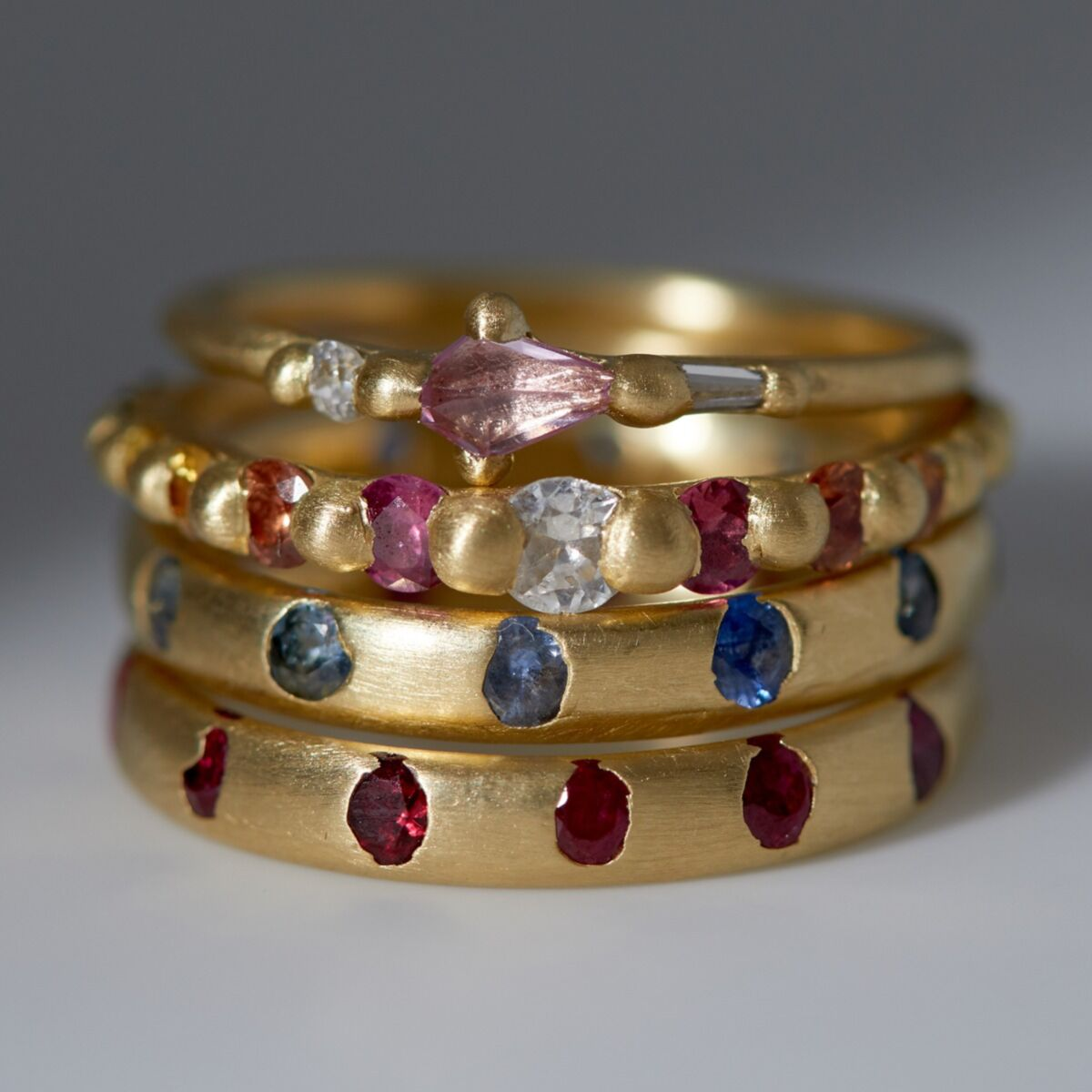 Celeste Crystal Ring, Ruby image