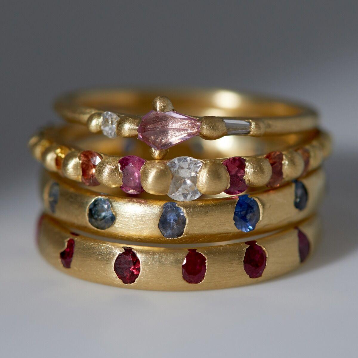 Celeste Crystal Ring, Sapphire image