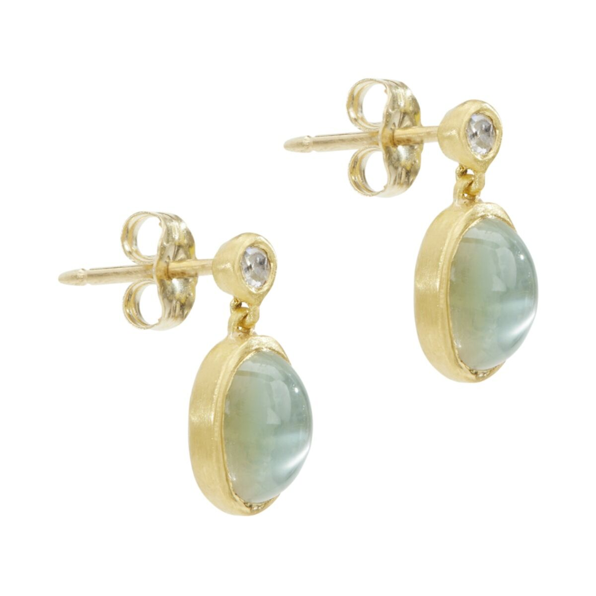 Moonlit Mango Moonstone Earrings image