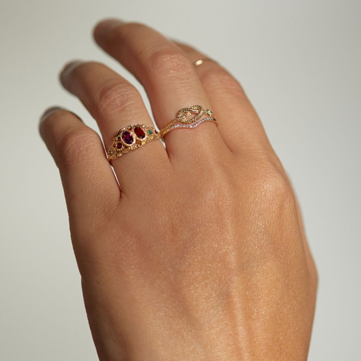 Victorian Serpent Ring image