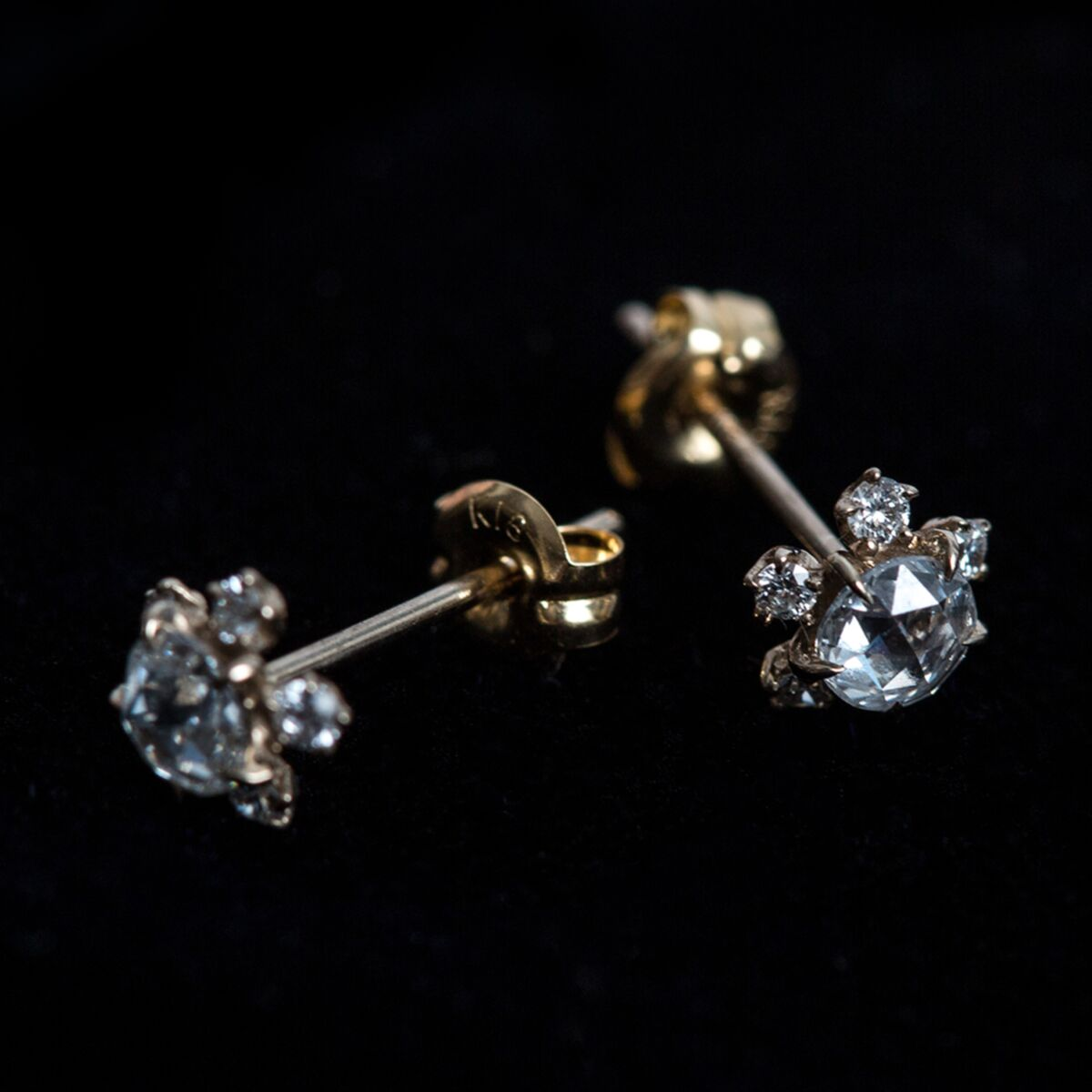 Sakura Stud Earrings, Diamond image