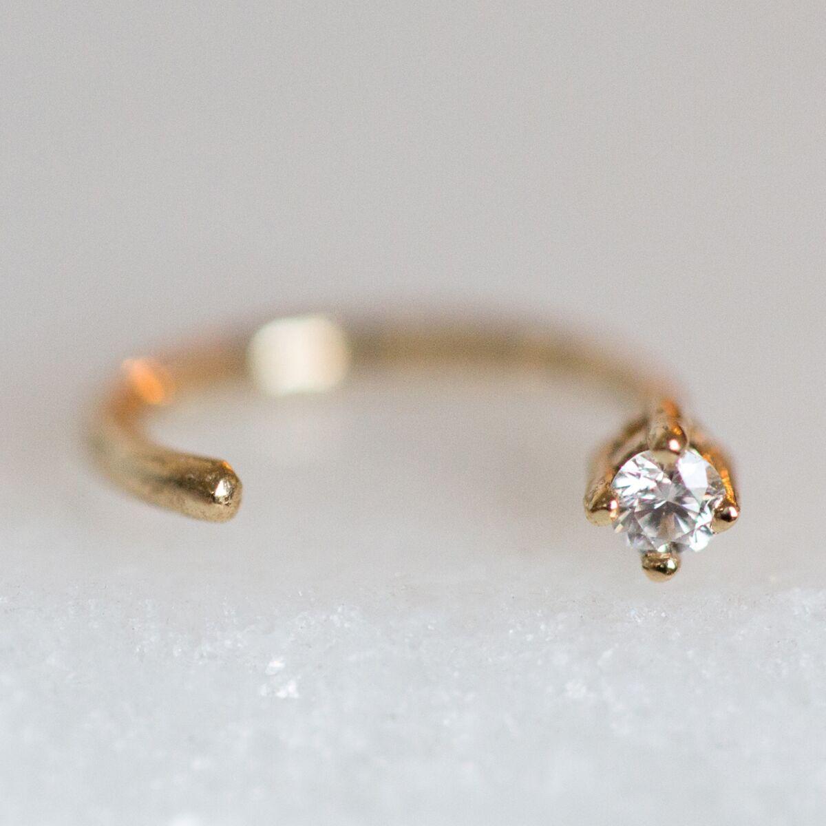 Diamond Open Hoop (SINGLE) image