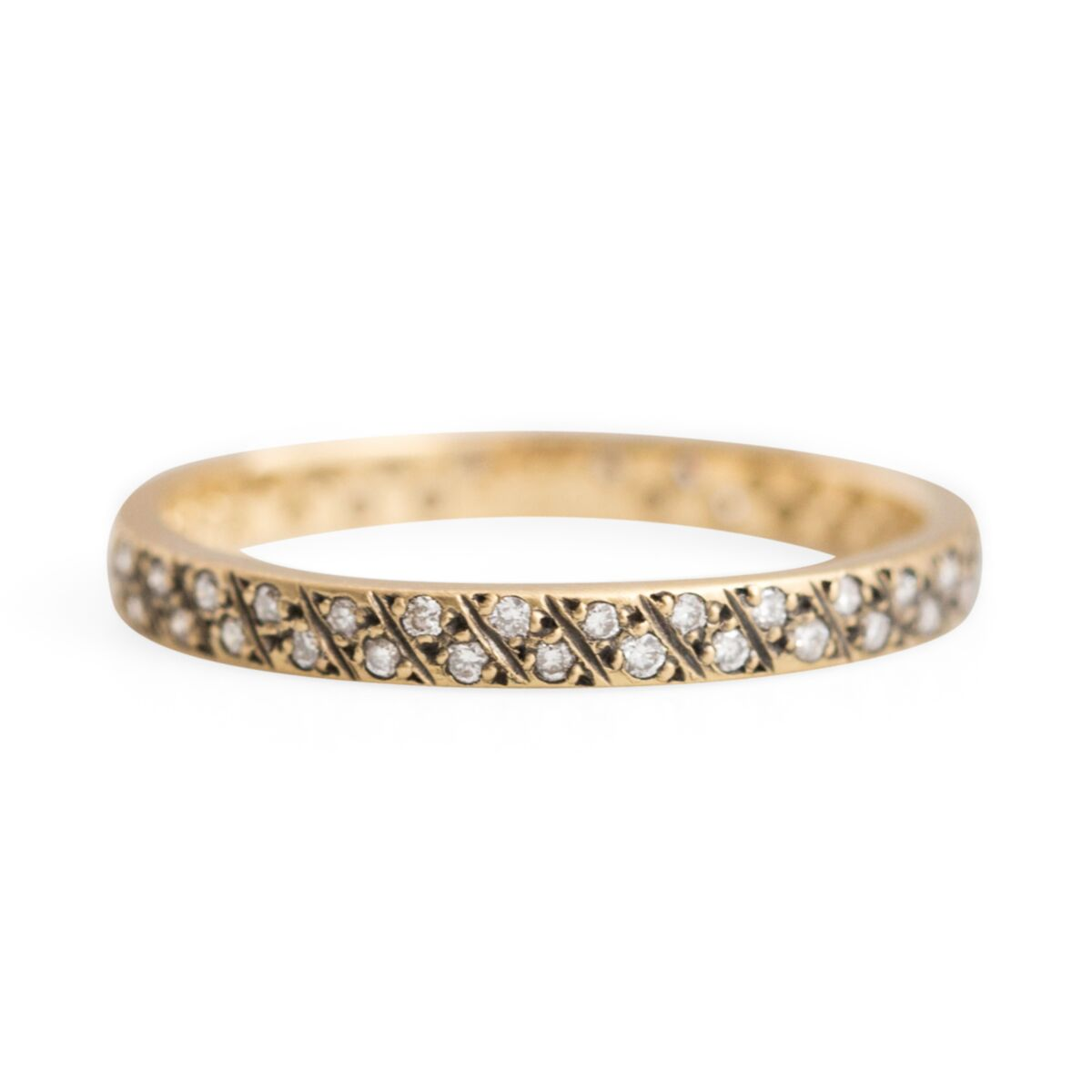 Diagonal Antique Diamond Band image