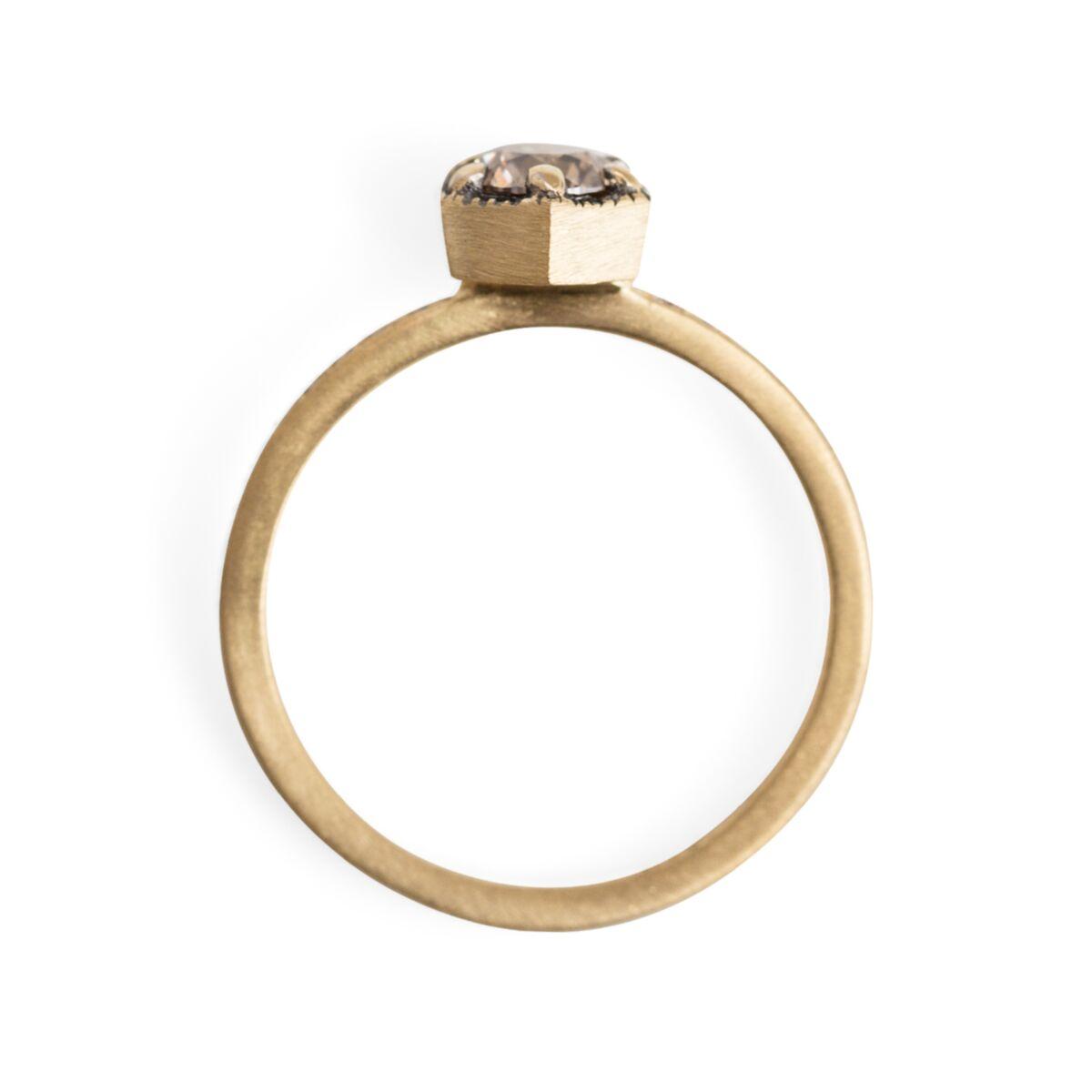 Hexagon Ring Supreme, Champagne Diamond image
