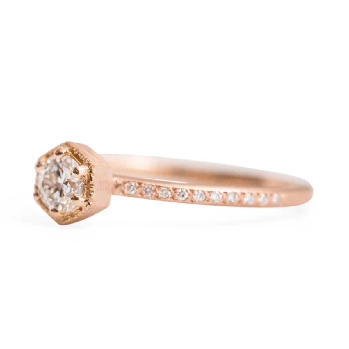 Hexagon Ring Supreme, White Diamond image