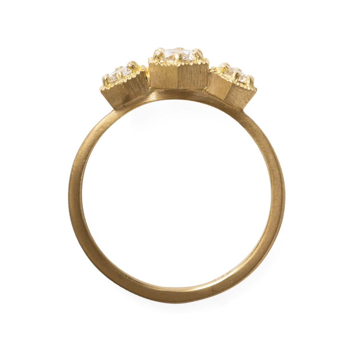 Triple Hexagon Ring, White Diamond image