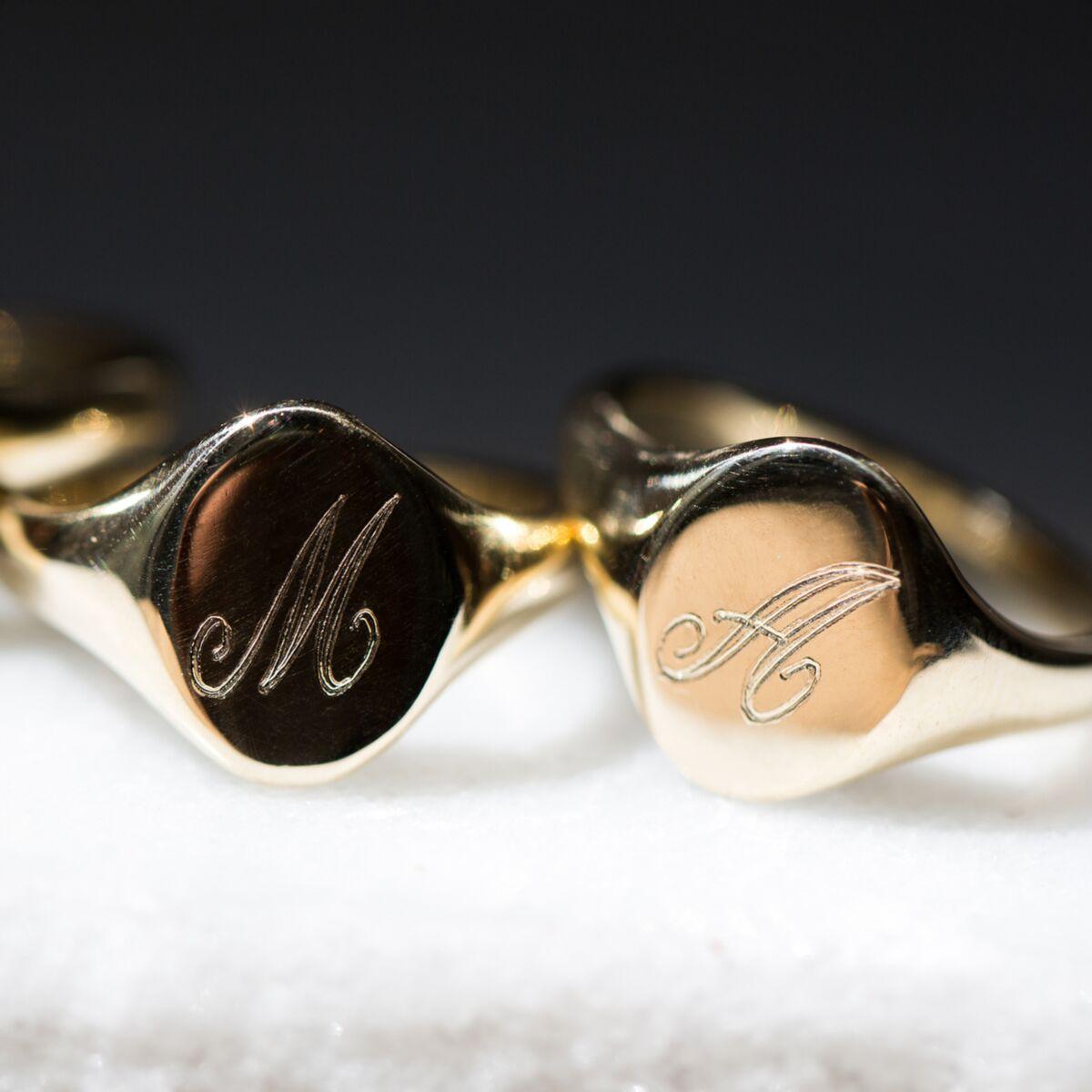 Large Heirloom Signet Ring image