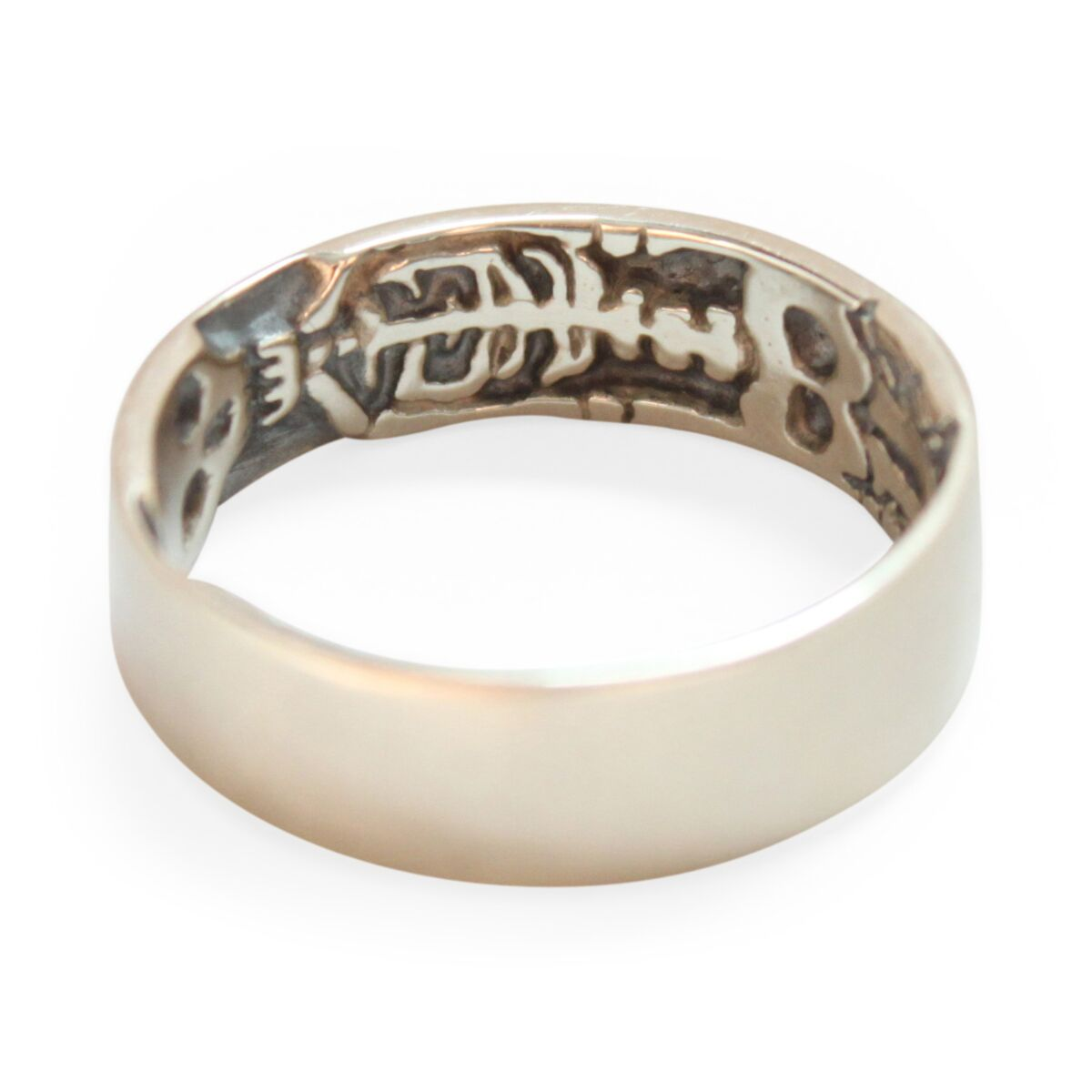 Skeleton Band Memento Mori Ring image