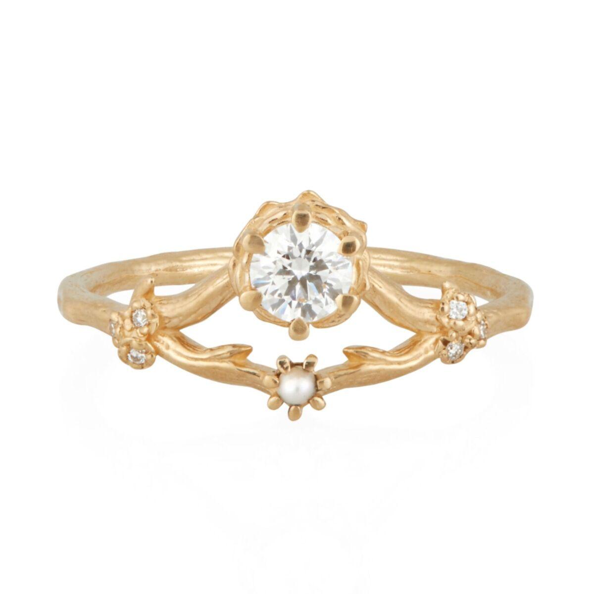 Frida Ring, White Diamond image