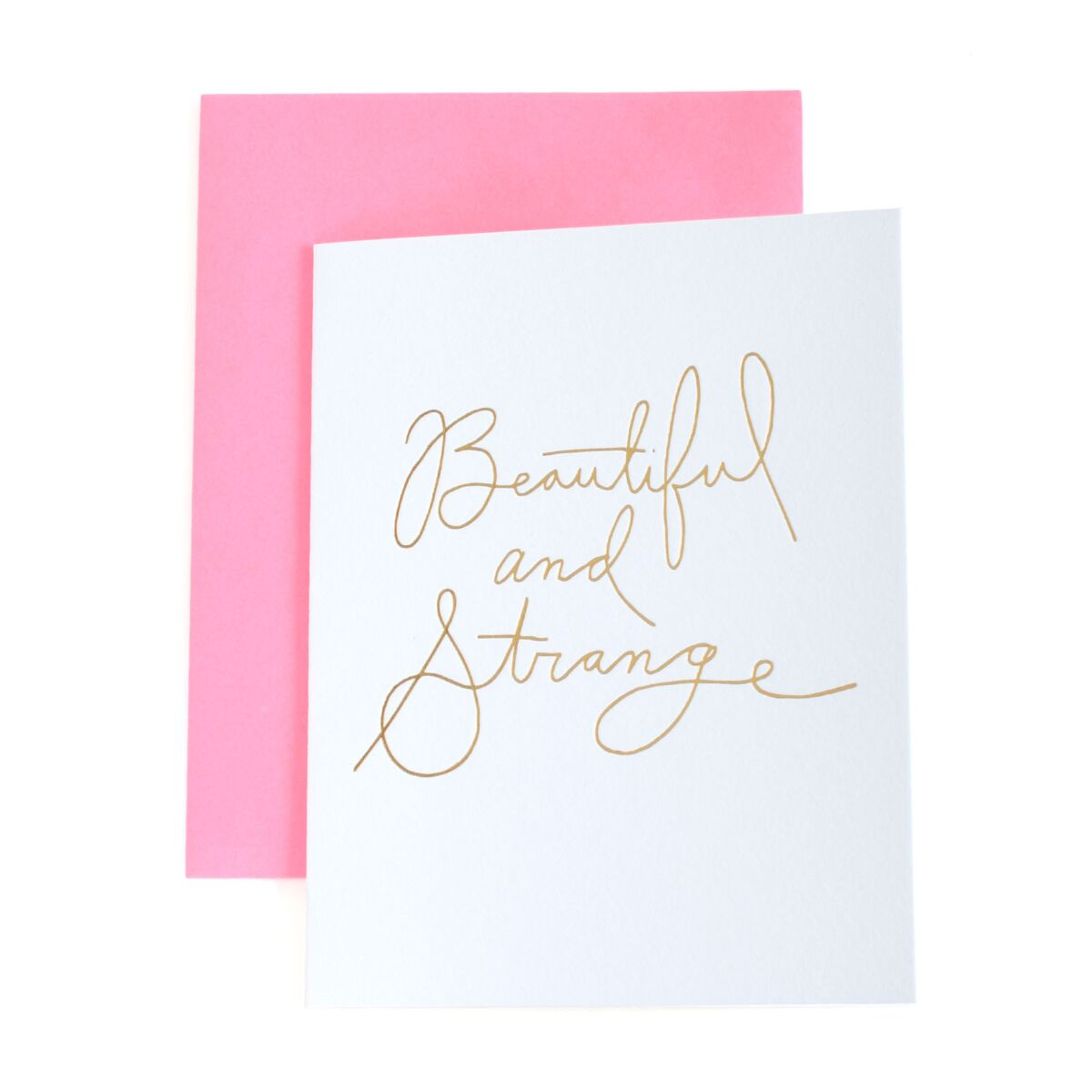 Beautiful & Strange Card, Gold image
