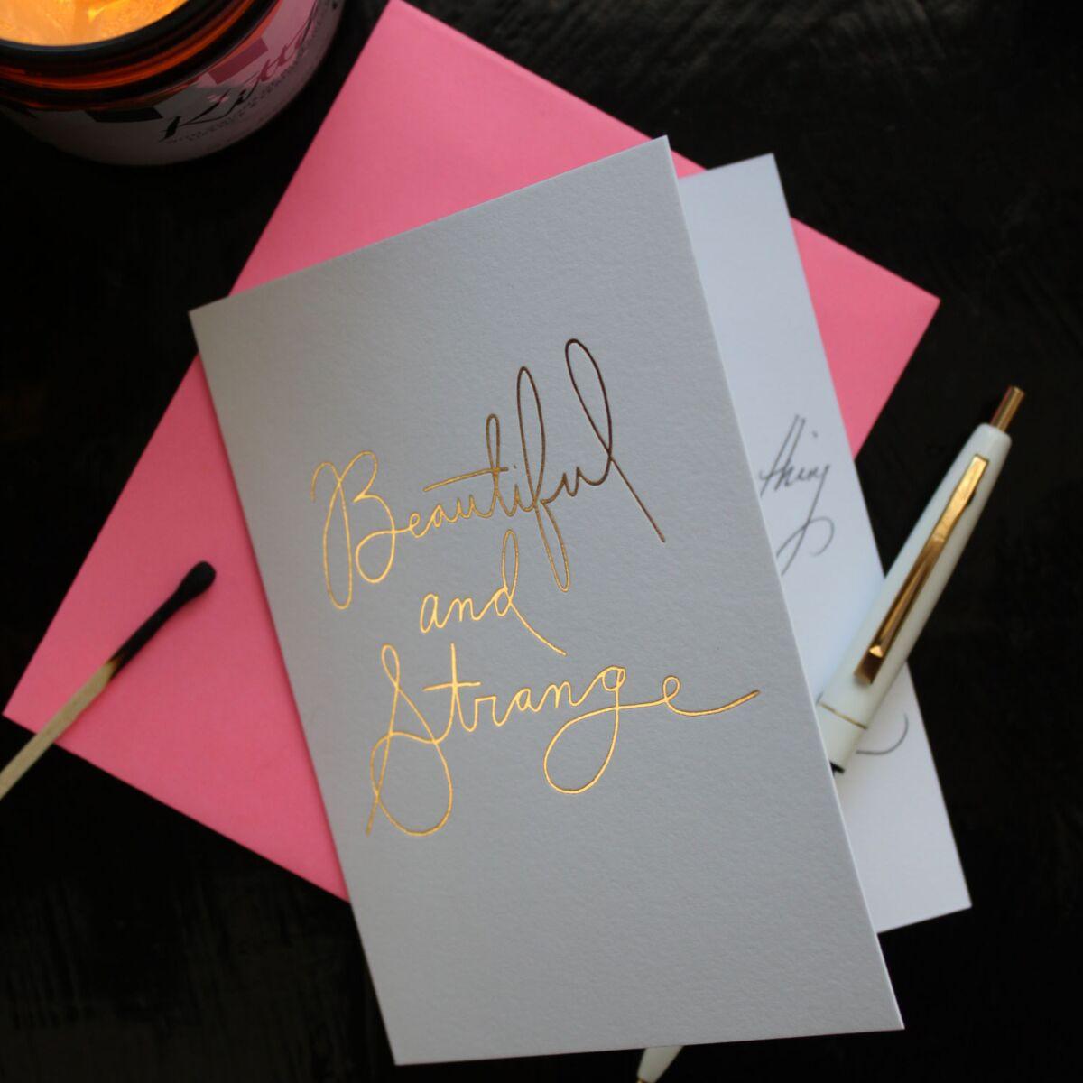 Beautiful & Strange Card, Gold