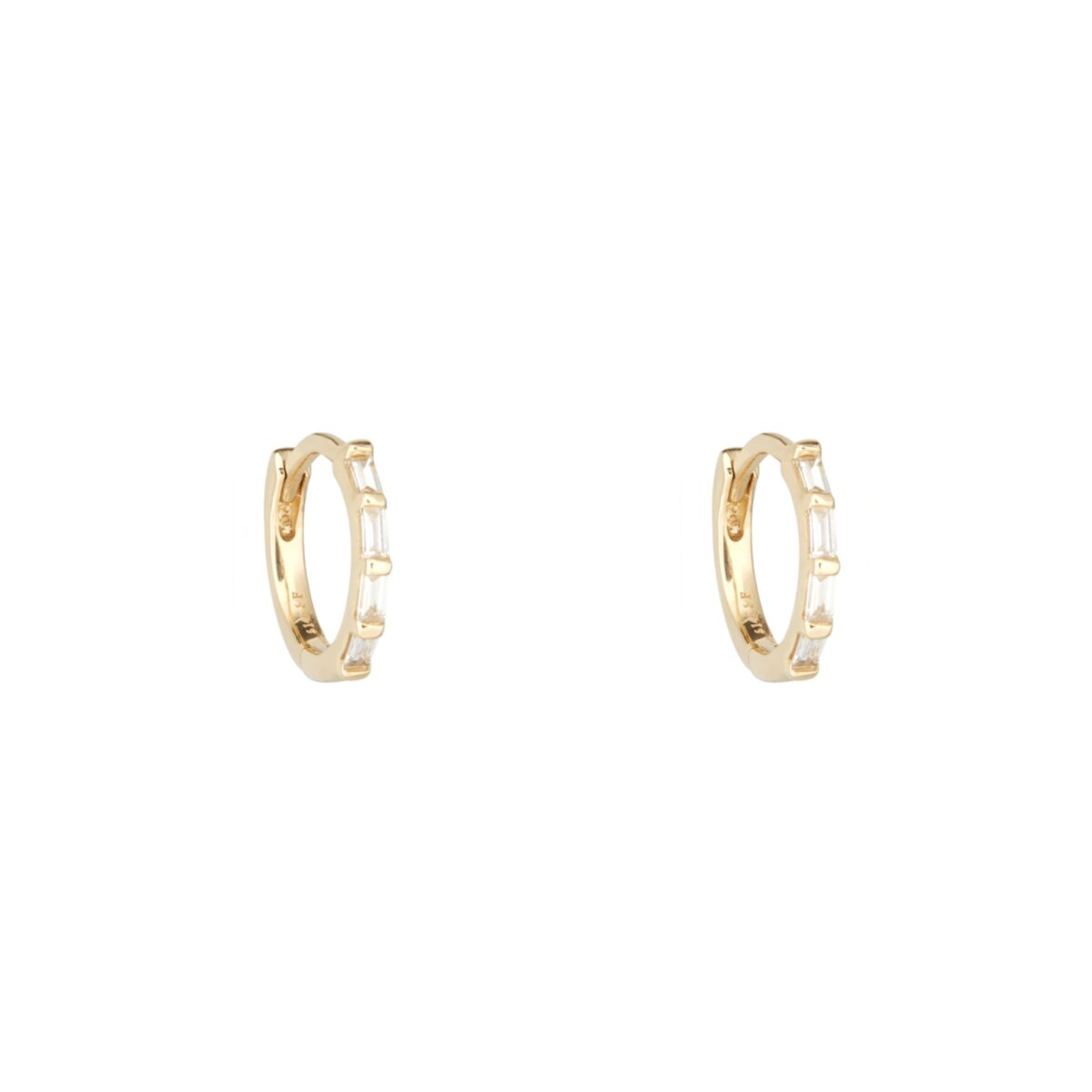Diamond Baguette Hoop (single) image